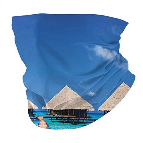 Q&SZ Sweatshirt Outdoor Headband House Decor Maldives Dock with Clear Waters Tropical...