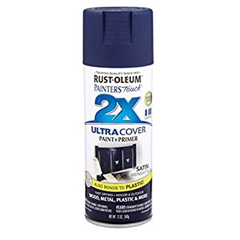 Painter s Touch® 2X™ 12 Oz Midnight Blue Cover Spray Paint Satin [Set of 6]