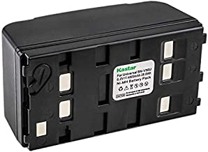 Kastar Ni-MH Battery 6.0V 4800mAh Replacement for Panasonic PV-BP18 PV-B18 PV-BP15 PV-BP17 HHR-V20A HHR-V40A, JVC BN-V11U BN-V20U BN-V22U BN-V25U, Sony NP-33 NP-55H NP-77H NP-98H Camcorder Battery