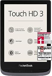 PocketBook e-Book Reader 'Touch HD 3' (16 GB Speicher; 15,24 cm (6 Zoll) E-Ink Carta Display; SMARTlight; Wi-Fi; Bluetooth) in Silbergrau