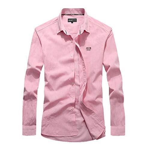 Nobrand Herrenhemd, langärmlig, Oxford-Gewebe, lässig, Business Gr. 58, rose