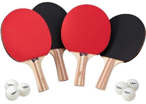 VIPER Ensemble d'accessoires de Tennis de Table (Raquettes/Pagaies et balles), Multicolore