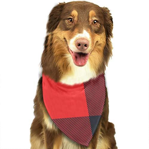 iuitt7rtree Tartan-Karomuster, Stofftextur, nahtloses Muster, Taschentücher, Schals, Dreiecks-Lätzchen, Zubehör für kleine, mittelgroße und große Hunde, Welpen und Haustiere