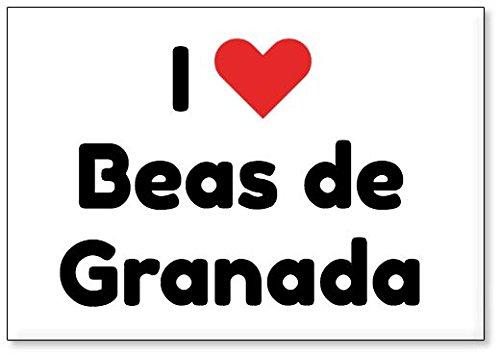 Mundus Souvenirs - Amo Beas de Granada, Imán para Nevera (diseño 3)