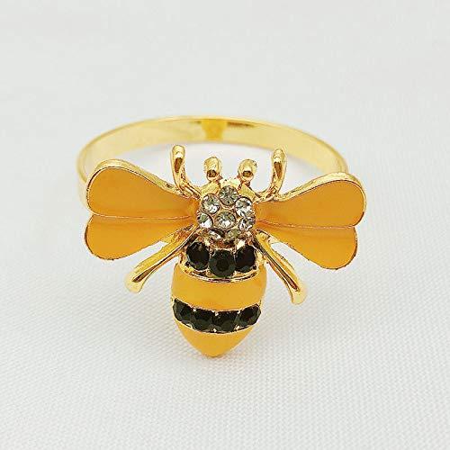 Servilleteros de mesa 12pcs anillo de servilleta set de anillo de servilleta hueco anillo de servilleta con forma de insecto exquisita, anillo de servilleta con gota de aceite y diamante Servilleteros
