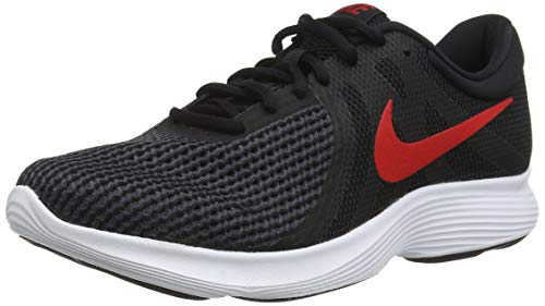 Nike Revolution 4, Zapatillas de Running para Hombre, Negro (Black/University Red-Oil Grey-White 061), 42 EU