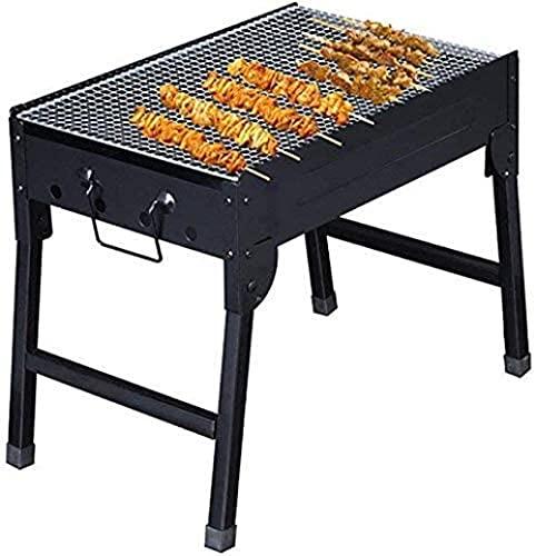 Barbacoa al aire libre fiesta familiar fácil set plegable barbacoa estufa plegable barbacoa luz carbón barbacoa no es pegajosa barbacoa JXX