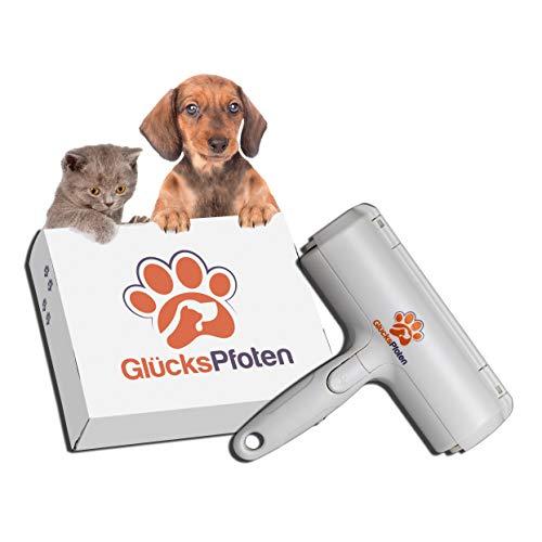 GlücksPfoten Wiederverwendbarer Tierhaarentferner - Nie Wieder Fusselrolle - Katzenhaarentferner und Hundehaarentferner