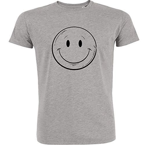 Redshirt Nice Smile - Camiseta para Hombre (algodón ecológico, Comercio Justo) Gris Jaspeado L