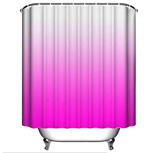 cortinas ducha antimoho rosa