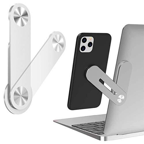 Bainuojia Magnet Handyhalter,Verstellbare Laptop Verlängerungs Telefonhalterung, Side Mount Magnetic Bracket Clip Handy Halter Halterung Tablet Stand für Laptop Computer Desktop Dual-Monitor