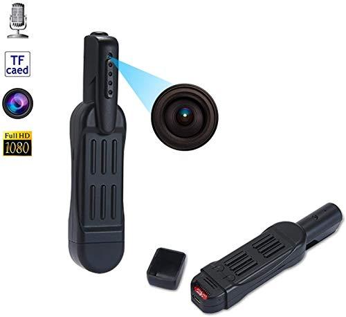 MHUI Mini-HD-Videogerät, 1080P HD Taschen-Feder-Kamera versteckte Spy Kleine beweglicher Körper tragbarer Taschenclip Video Recorder DVR mit 16GB Speicherkarte