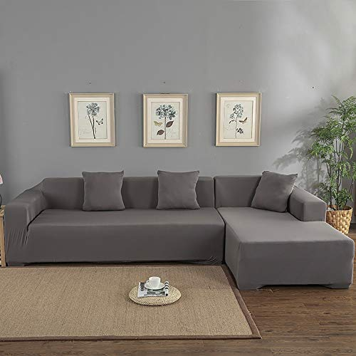 AjAsh7 Funda De Sofa Elástica Chaise Longue Brazo Largo Derecho Funda Cubre Sofá Modelo Acolchado Diseñada De Forma L Puro Moderno Cuatro Estaciones Universales (1/2/3/4 Plazas)
