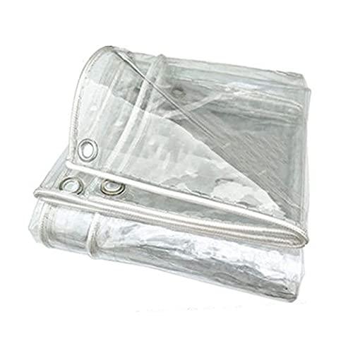 Toldo Transparente,Lonas Impermeables Exterior,Lonas Transparente De MúLtiples Funciones Impermeable Lona Cubierta,0.3mm Lona Impermeable Pergola,para Patio Jardín Plantas(Size: 3*6m(9.8*19.7ft))