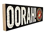 Oorah. Officially Licensed by The United States Marine Corps and Hand-Crafted in Tennessee, This Custom Wood Block Sign Measures 4X12 Inches. an Authentic, American Made Gift for Family or Friend.