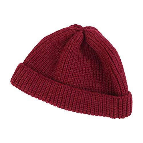 Unisex Mode einfarbig warm halten wintermützen Strickwolle Hut ski strickmütze CICIYONER