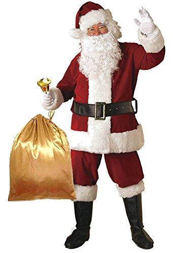 Orolay Deluxe Santa Costume for Men Santa Claus Suit Adults Christmas Jacket M Red