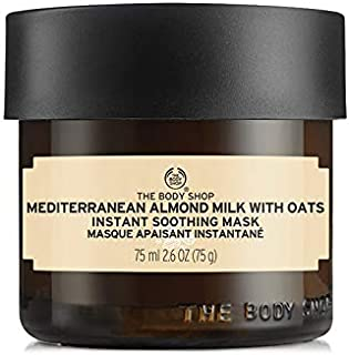 The Body Shop Mediterranean Almond Milk with Oats Instant Soothing Face Mask, 2.6 Oz