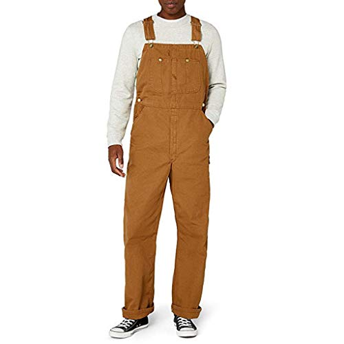 Herren Latzhose,Loose fit Stonewash Denim Overalls Jeanslatzhose Latzjeans Jeans Denim Blau Overalls Regular Fit Lang Jumpsuit Männer Straight Locker Hose