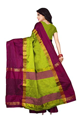 Dhruvi Trendz Women's Soft Cotton Silk Plain Diwali Special Half Sarees Under 349 2021 Beautiful For Women New Saree with blouse piece