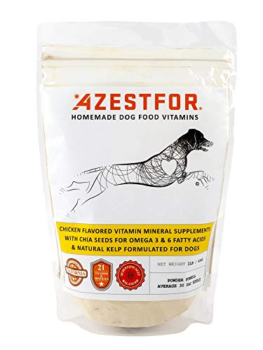 Azestfor Homemade Dog Food Supplement Dog Vitamins Made in USA Add to Holistic Whole Food Diets Raw BARF All Breeds Puppy Adult 16oz Powder
