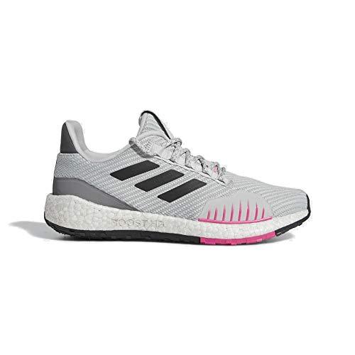 adidas PulseBOOST HD WNTR Zapatillas de correr para mujer, gris/rosa, color, talla 41 1/3 EU