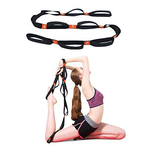 5BILLION Correa Yoga & Stretch Strap - Ancho de 4cm - Yoga Strap para Yoga...