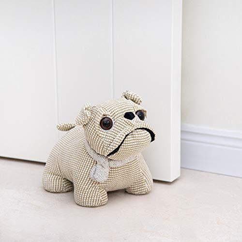 Decorpro Cute Decorative Door Stopper for Home and Office Door Stopper, Bulldog Weighted Interior Fabric Design Door Stopper