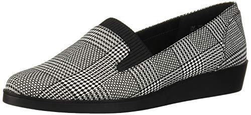 Aerosoles Women's TOP Level Loafer, Black White Fabric, 7 M US
