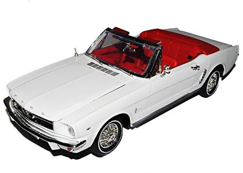 bester Test von ford mustang cabrio Motor Max Ford Mustang 1964 1/2 Cabrio Blanco Modell 1/18 mit persönlicher Registrierung