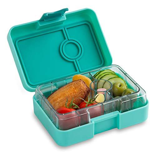 Yumbox Mini XS Snackbox - Kleine Kinder Bentobox, 3 Fächer - Brotdose mit Unterteilung für Krippe, Kita oder kleinen Snack Unterwegs (Surf Green)