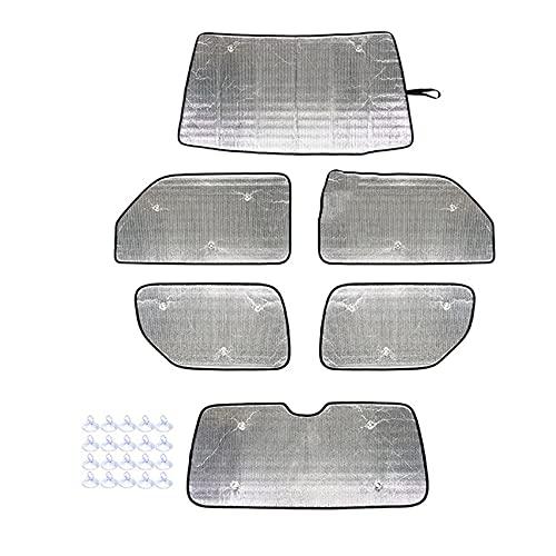 Kaxofang Kit de Parasol de Parabrisas para Jimny 2007-2017, Cubierta de Visera de ProteccióN Solar para Cortina de Coche Anti-UV, 6 Piezas