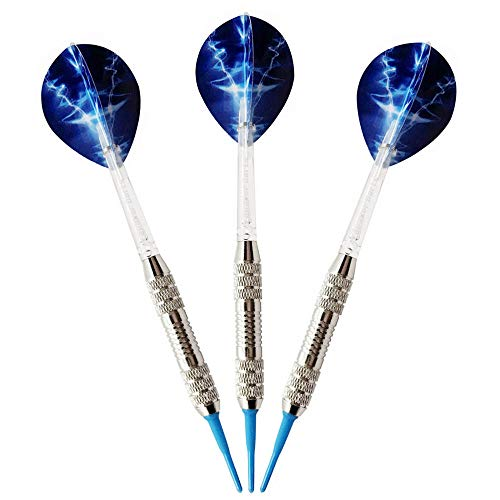 yaoyao Darts Darts Set zacht plastic 3 stuks 18G professionele safe tip ijzeren vat PC-golven Pet Flights wedstrijdtraining Dart Indoor Outdoor Sports Game