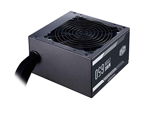 Cooler Master MWE 650 White 230V - Alimentation V2 - 80 PLUS 230V Certifié UE, ventilateur 120 HDB silencieux, circuit DC-DC + LLC avec rail simple +12V - Garantie 3 ans