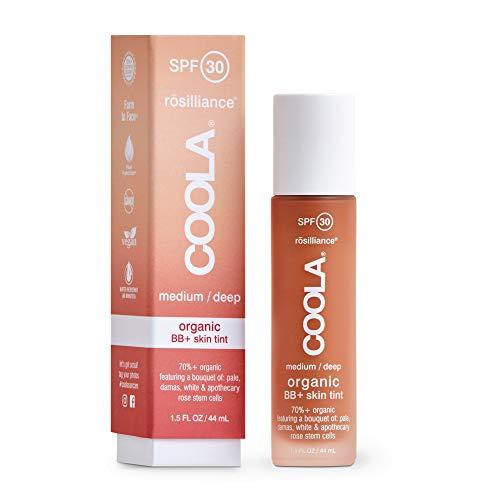Coola, Organic Rosilliance BB+ Cream Tinted Moisturizer Sunscreen Skin Care Broad Spectrum SPF 30 Reef Safe, Medium/Deep, Natural Sweet Rose, 1.5 Fl Oz
