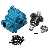 Dasorende Diferencial de Metal y Caja de Engranajes de Metal para Wltoys 144001 1/14 4Wd Piezas de Modelos de Vehículos de Carreras de Coche de Alta Velocidad RC, Azul