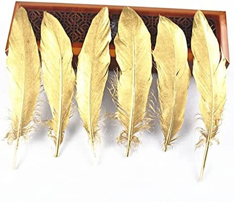 GreenGardenn 20pcs Sale Ranking TOP18 lot Dipped Gold Goose Feathers Silver 15-20cm