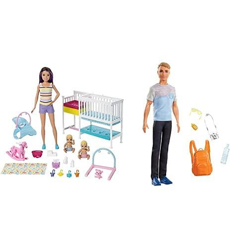 Mattel Barbie Skipper Hora De La Siesta, Regalo para Niñas Y Niños 3 9 Años + Vamos De Viaje, Muñeco Ken con Accesorios Color/Modelo Surtido