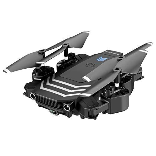 LYHLYH Quatre Axes Drone, Avion de télécommande Double caméra Enfants Batterie Longue Vie Facile pour Les débutants Mode Headless hélicoptère GPS de positionnement par Satellite