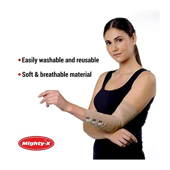 Premium Elastic Bandage Wrap - 8 Pack + 8 Extra Clips - Durable Compression Bandage (4X - 3 inch, 4X - 4 inch Rolls… 5 ✅ 2 DIFFERENT SIZES - Your package includes four 3-inch rolls and four 4-inch rolls of elastic bandages. It provides more possibilities for effective wrapping various injuries, so, you can get back to feeling like a boss. Our smaller bandage is perfect for covering smaller areas like your wrists, ankles, and elbows, while the larger bandage is ideal for larger areas as shoulders, calves, or knees. ✅ SUPERIOR ELASTICITY - We made our high-quality compression bandage wrap from premium polyester. You're going to feel great because it provides supportive compression for keeping your muscles snug as a bug in a rug. Also, the Mighty-X crepe bandage can extend up to 15ft when fully stretched, which is enough to cover most areas. ✅ INDIVIDUALLY PACKAGED - Each elastic bandage wrap is enveloped in a protective wrapper until you're ready to use it. We do this to keep your compression wrap hygienic and debris-free to help prevent any kind of irritation.