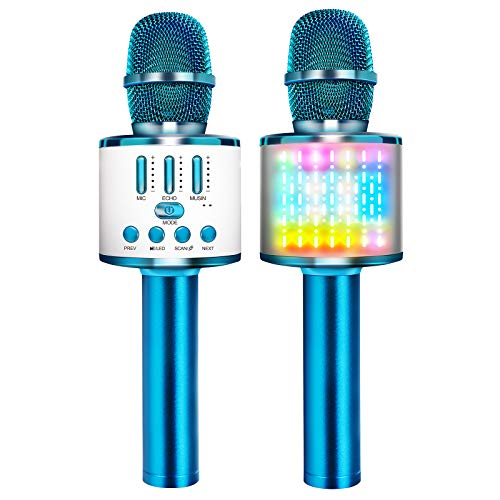 Microphones for Kids Wireless Bluetooth Microphone,Portable Handheld Toy...