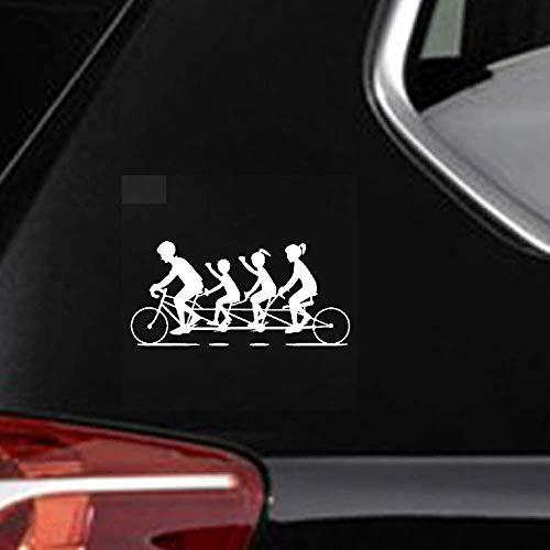 18.2Cmx8.7Cm Geweldig Fietsen Vier Persoon Fiets Grappige Schaduw Fiets Decal Auto Sticker voor Auto Laptop Window Sticker