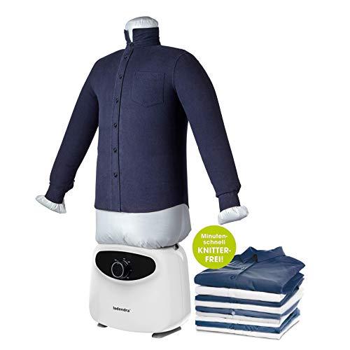 LADENDRA NEU! - Hemdenbügler mit 2in1 Bügelpuppe - Bügelmaschine für Hemden - Bügelautomat zum bügeln von Hemd und Blusen - Hemdbügler Steamer Bügelhilfe - Dampfbügler Hemden-bügler