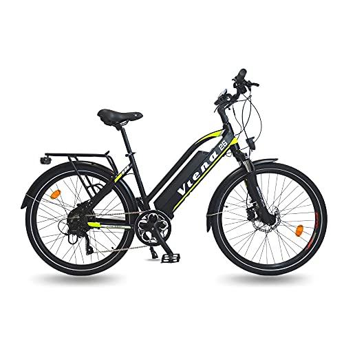 URBANBIKER vélo électrique VTC VIENA (Jaune 28), Batterie Li