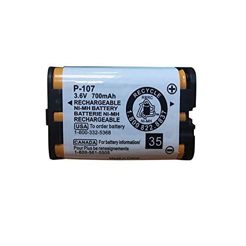 GEILIENERGY 3.6v 700mAh HHR-P107 Rechargeable Cordless Phone Battery Compatible for Panasonic HHR-P107 HHRP107 HHR-P107A HHRP107A Cordless Telephone (Pack of 1)