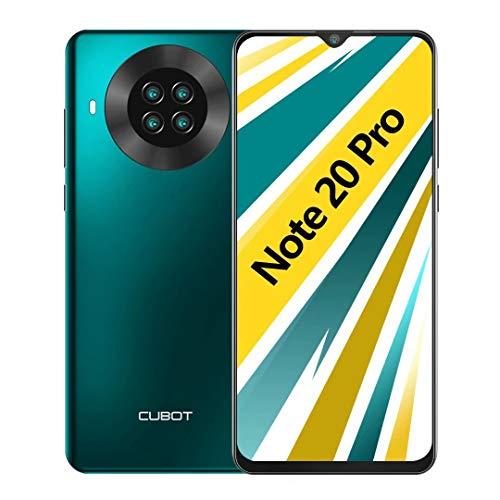 CUBOT Note 20 Pro Smartphone ohne Vertrag, 5G WiFi, 6GB RAM/128GB, 6.5 Zoll HD Display, 4200mAh Akku, 4 Kameras, 4G Dual SIM, Android 10, Grün