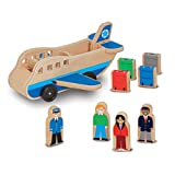 Melissa & Doug Wooden Airplane Play Set With 4 Play Figures and 4 Suitcases (9394)
