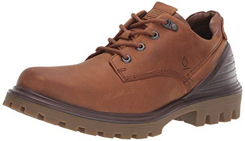 ECCO Men's Tredtray Waterproof Low Hydromax Hiking Shoe, Amber/Cocoa Brown Oil Nubuck, 45 M EU (11-11.5 US)