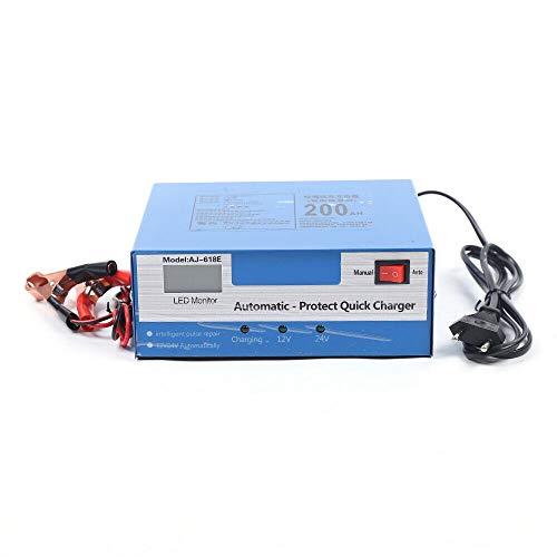 Cargador de batería para coche de 12/24 V, cargador inteligente de batería para coche, carga rápida, reparación de impulsos inteligente, control en tiempo real del estado de carga