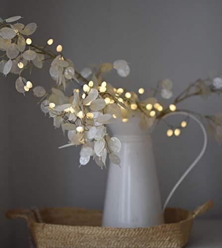 LED-Lichterkette, tropfenförmig, batteriebetrieben, blickdicht, Weiß